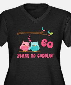 60th Anniversary Owl Couple Plus Size T-Shirt