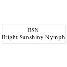 BSN Bumper Bumper Sticker