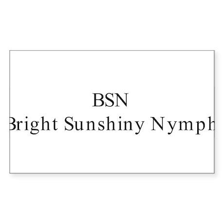 BSN Rectangle Sticker
