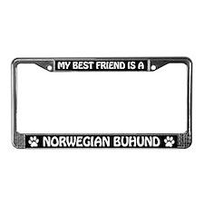 My Best Friend Is A Norwegian Buhund License Frame