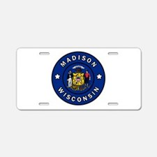 Madison Wisconsin Aluminum License Plate