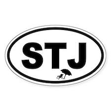 St. John's STJ Beach Chair Oval Decal