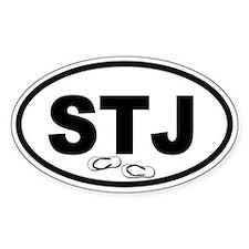 St. John's STJ Flip Flops Oval Decal