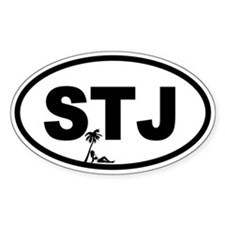 St. John's STJ Beach Beauty Oval Decal