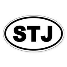 Basic St. John's STJ Oval Decal