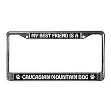 Caucasian Mountain Dog (friend) License Frame