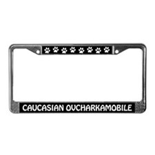 Caucasian Mountain Dog License Plate Frame