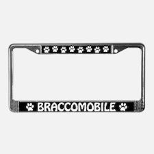 "Bracco Italiano ""Braccomobile"" License Plate Frame"