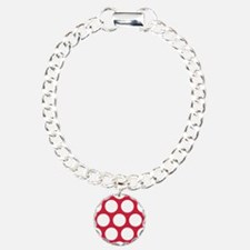 Red, Cherry: Polka Dots Bracelet