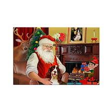 Santa's Eng Spring Span Rectangle Magnet