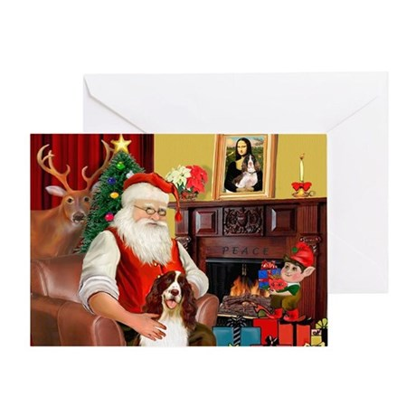 Santa's Eng Spring Span Greeting Card