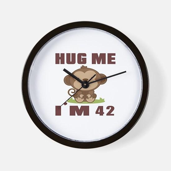 Hug Me I Am 42 Wall Clock