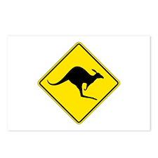 Kangaroo Crossing, Australia Postcards (Package of