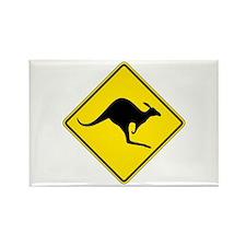 Kangaroo Crossing, Australia Rectangle Magnet