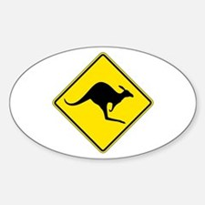 Kangaroo Crossing, Australia Oval Decal