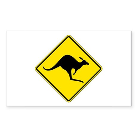 Kangaroo Crossing, Australia Rectangle Sticker