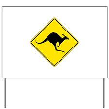 Kangaroo Crossing, Australia Yard Sign