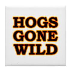Hot Wild Hog Tile Coaster