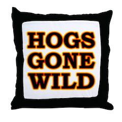 Hot Wild Hog Throw Pillow