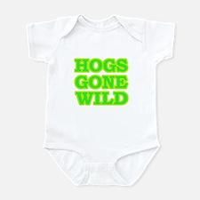 Green Hogs Gone Wild Infant Bodysuit
