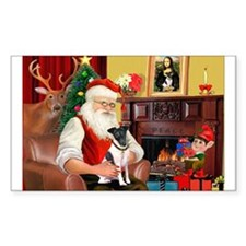 Santa's smooth Fox T Rectangle Decal