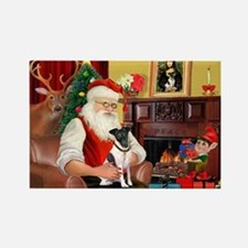 Santa's smooth Fox T Rectangle Magnet