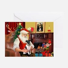 Santa's smooth Fox T Greeting Cards (Pk of 20)