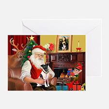 Santa's smooth Fox T Greeting Cards (Pk of 10)