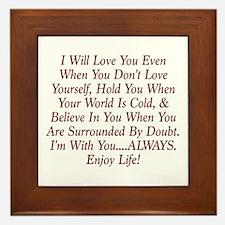 ALWAYS Enjoy Life! Framed Tile