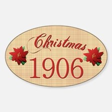 1906 Scrapbooking Christmas Oval Decal