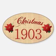 1903 Scrapbooking Christmas Oval Decal