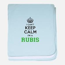 Rubis I cant keeep calm baby blanket