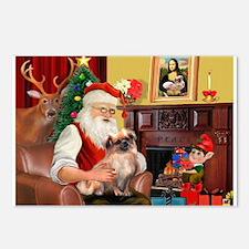 Santa's Tibetan Spaniel Postcards (Package of 8)