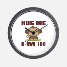 Hug Me I Am 100 Wall Clock