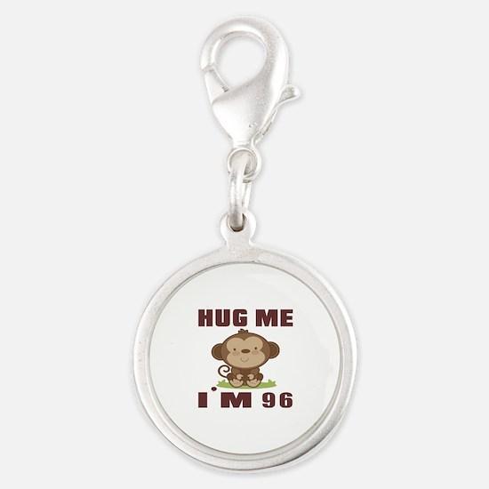 Hug Me I Am 96 Silver Round Charm
