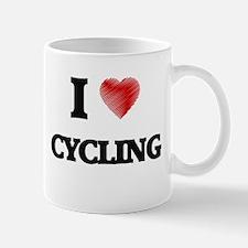 I Love Cycling Mugs