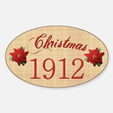 1912 Scrapbooking Christmas Oval Decal