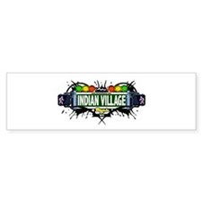 Indian Village (White) Bumper Bumper Sticker