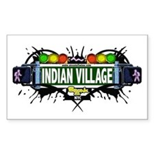 Indian Village (White) Rectangle Decal