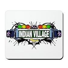 Indian Village (White) Mousepad