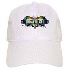 Indian Village (White) Baseball Cap