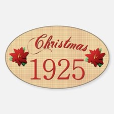 1925 Scrapbooking Christmas Oval Decal