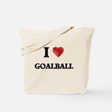 I Love Goalball Tote Bag