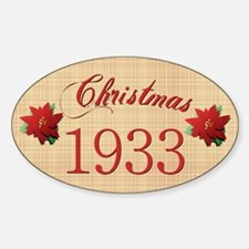 1933 Scrapbooking Christmas Oval Decal