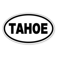Basic Tahoe Oval Stickers