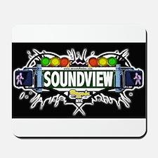 Soundview (Black) Mousepad