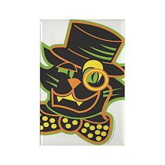 Halloween Top Hat Cat Rectangle Magnet (100 pack)