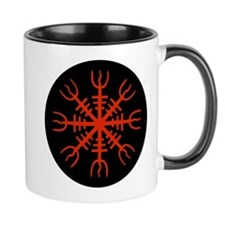 Red Aegishjalmur Coffee Mug