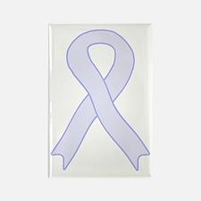 Lavender Ribbon Rectangle Magnet