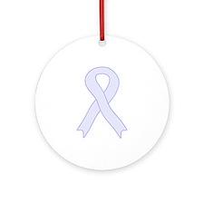 Lavender Ribbon Ornament (Round)
